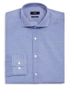 BOSS - Micro Grid Regular Fit Dress Shirt