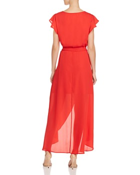 PPLA - Positano Ruffled Wrap Maxi Dress