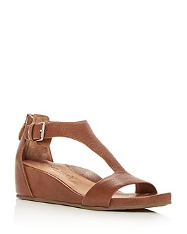 Gentle Souls by Kenneth Cole - Women's Gisele Leather Platform Wedge Sandals