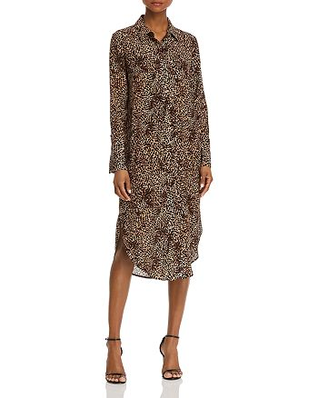 Anine Bing - Chelsea Leopard Silk Shirt Dress