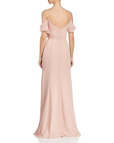 Watters - Aldridge Cold-Shoulder Gown