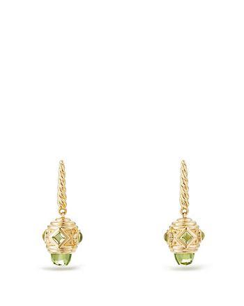 David Yurman - Renaissance Drop Earrings with Peridot in 18K Gold