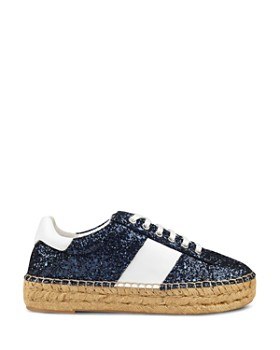 Marc Fisher LTD. - Women's Margo2 Glitter Leather Lace-Up Espadrille Sneaker