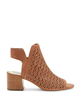 VINCE CAMUTO - Women's Sternat Laser-Cut Stacked Heel Sandals