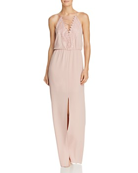 WAYF - Prato Lace-Up Crepe Gown