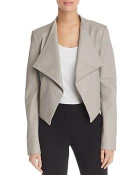 Theory - Draped Leather Jacket