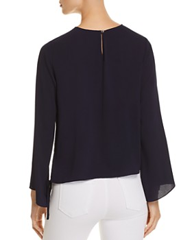 VINCE CAMUTO - Side Drawstring Bell-Sleeve Top - 100% Exclusive