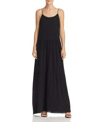 Tiered Crinkled Cotton-gauze Maxi Dress - Black ATM Anthony Thomas Melillo