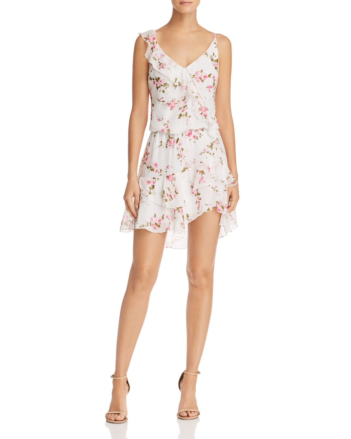 Paloma Floral Print Ruffled Dress by Karina Grimaldi