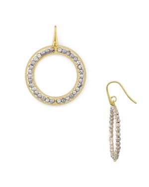 OFFICINA BERNARDI BEADED LOOP DROP EARRINGS