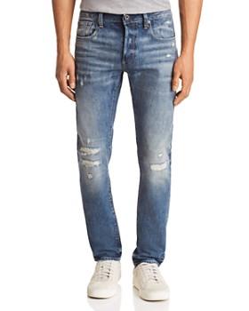 G-STAR RAW - 3301-b Slim Fit Jeans in Medium Aged Restored