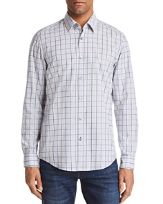 BOSS Lukas Grid Regular Fit Button-Down Shirt - Bloomingdale's_0