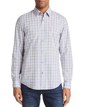 BOSS - Lukas Grid Regular Fit Button-Down Shirt