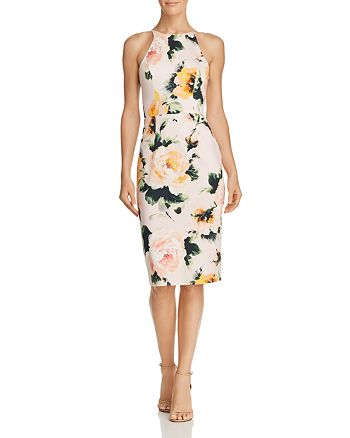 Black Halo - Montego Floral Sheath Dress