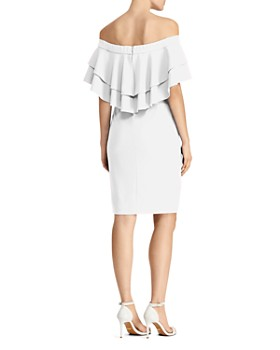 Ralph Lauren - Ruffled Off-the-Shoulder Crepe Dress