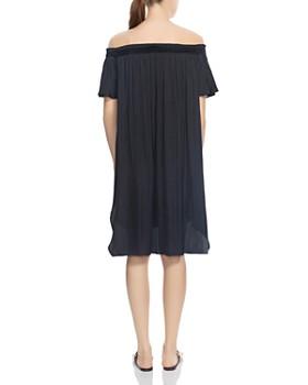 HALSTON HERITAGE - Off-the-Shoulder High/Low Dress