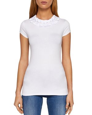 CHARRE BOW-TRIMMED TEE