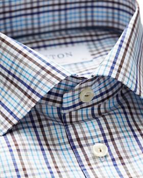 Eton - Plaid Regular Fit Dress Shirt