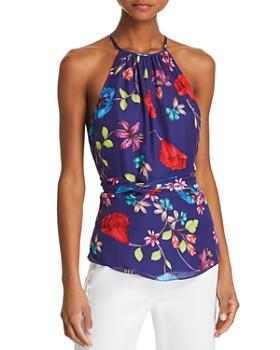 Parker - Jill Tie-Waist Floral-Print Top