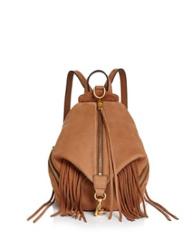 Rebecca Minkoff - Julian Fringe Medium Nubuck Leather Backpack