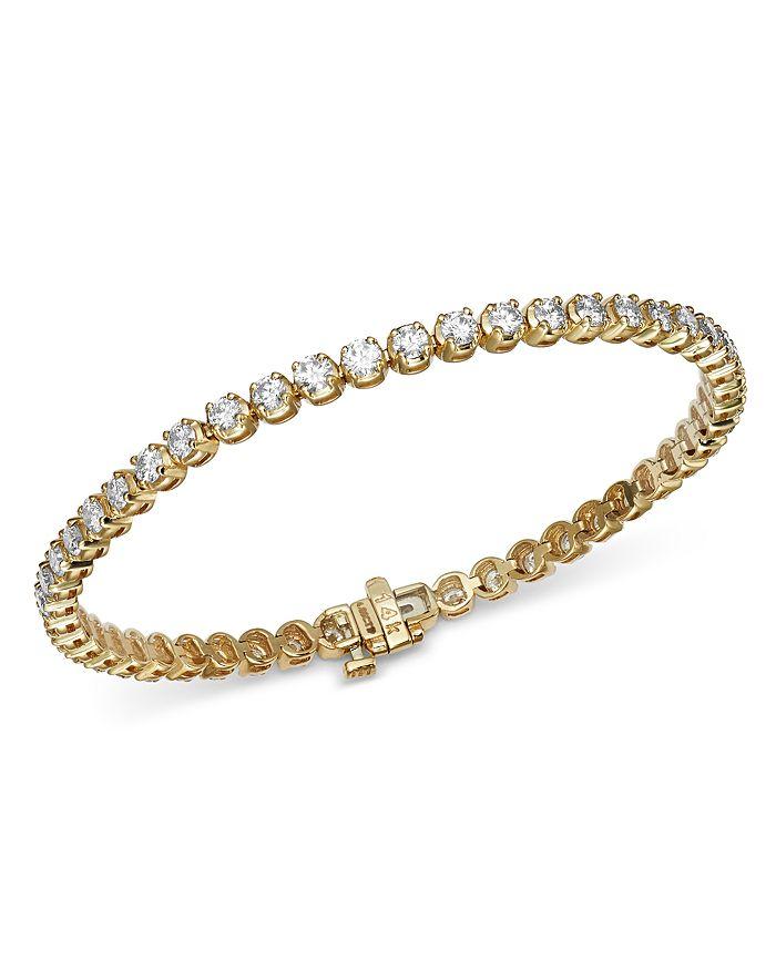 Diamond Tennis Bracelet In 14k Yellow Gold 4 0 Ct T W 100 Exclusive