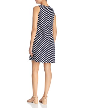 BeachLunchLounge - Striped A-Line Dress