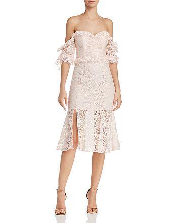 La Maison Talulah - Off-the-Shoulder Ruffled Lace Midi Dress