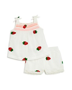 Design History Girls' Strawberry-Embroidered Top & Shorts - Little Kid - Bloomingdale's_0