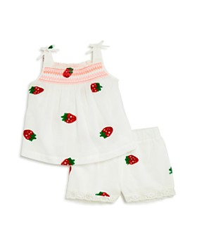 Design History - Girls' Strawberry-Embroidered Top & Shorts - Little Kid