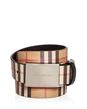 Burberry - Charles Vintage Check Leather Belt