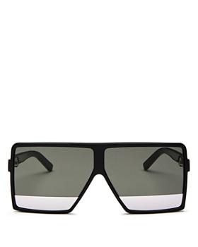 Saint Laurent - Men's Flat Top Tonal Lens Square Sunglasses, 63mm