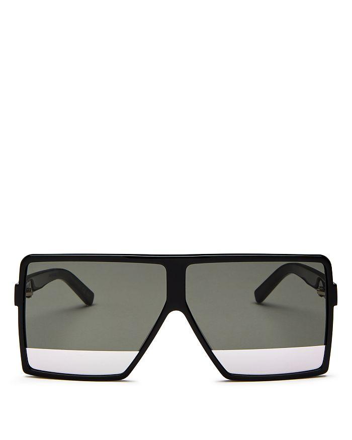 95a39f8d45 Saint Laurent - Men s Flat Top Tonal Lens Square Sunglasses