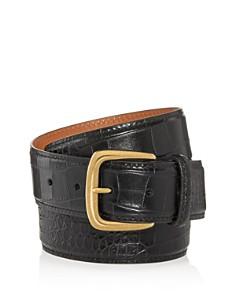 Bryant Park - Croc Embossed Leather Belt