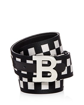 Bally - Check & Leather Reversible Belt