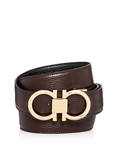 Salvatore Ferragamo - Muflone Reversible Leather Belt