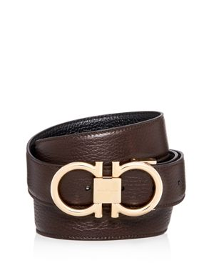 Salvatore Ferragamo Muflone Reversible Leather Belt