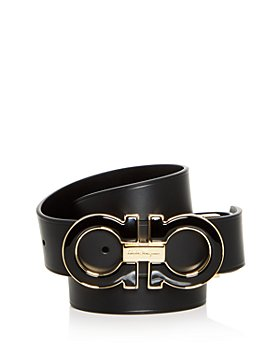 Salvatore Ferragamo - Men's Enamel Double Gancini Buckle Reversible Leather Belt