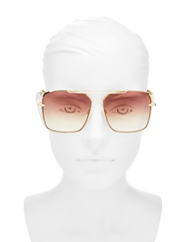 rag & bone - Women's Oversized Brow Bar Square Sunglasses, 61mm