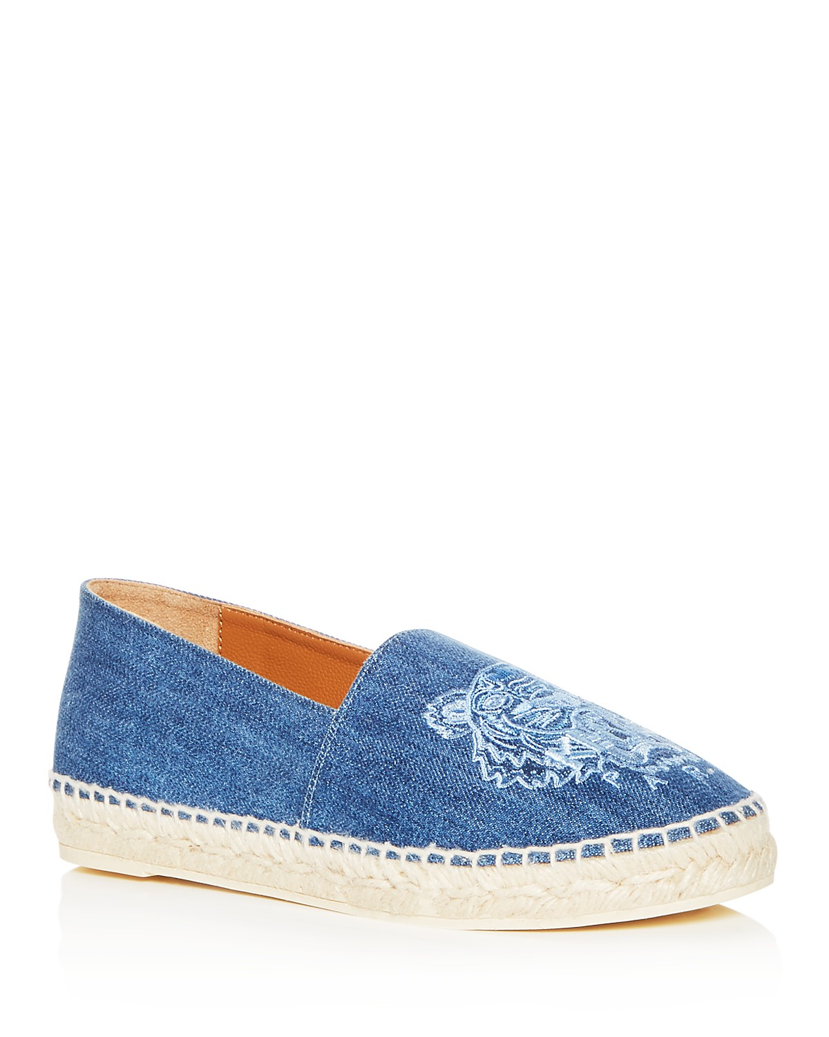Kenzo Women's Classic Tiger Embroidered Denim Espadrille Flats sSH6D4z