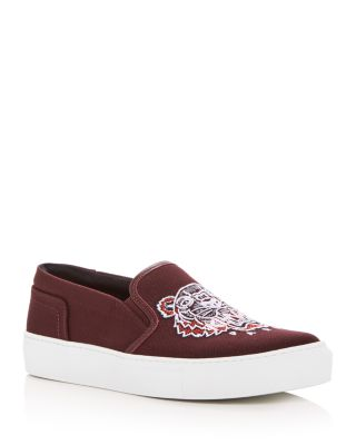 Tiger Embroidered Slip-On Sneakers