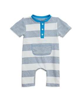 Sovereign Code - Boys' Striped Henley Romper - Baby