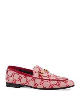 Gucci - Women's Jordan GG Canvas Loafers