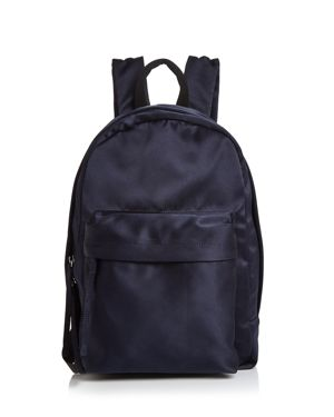 Elizabeth And James Satin Backpack in Navy/Silver