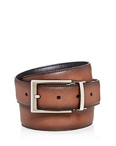 The Men's Store at Bloomingdale's Embossed Burnished Leather Belt_0