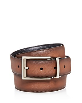 The Men's Store at Bloomingdale's - Embossed Burnished Leather Belt