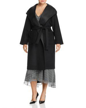 Marina Rinaldi Tattile Reversible Hooded Wrap Coat