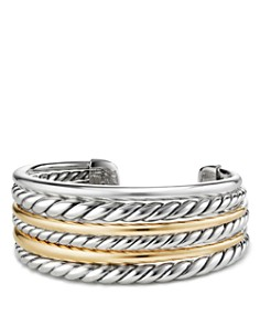 David Yurman - Pure Form Cuff Bracelet with 18K Gold