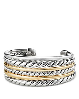 David Yurman - Pure Form Cuff Bracelet with 18K Gold