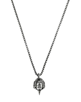 """Gucci - Sterling Silver Anger Forest Eagle Head Necklace, 20"""""""
