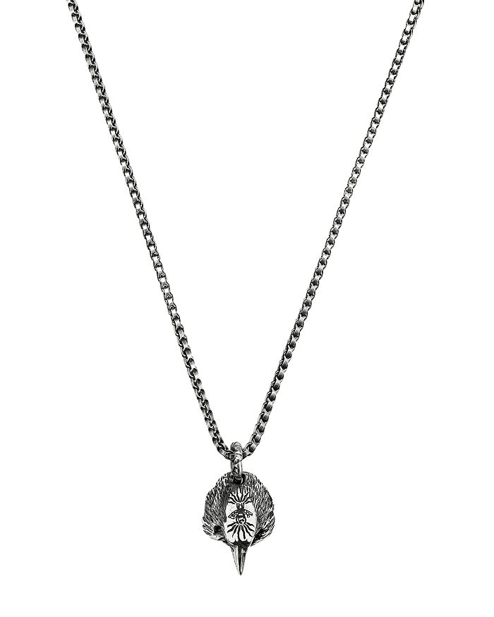 Gucci - Sterling Silver Anger Forest Eagle Head Necklace, 20""
